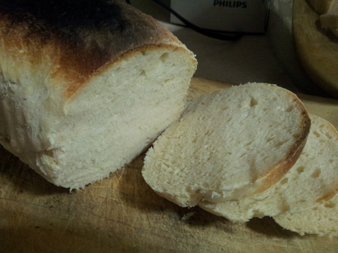 First time baking bread on New Year's Day, 2014