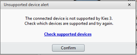 EFS Folder Kies 3 Unsupported Device