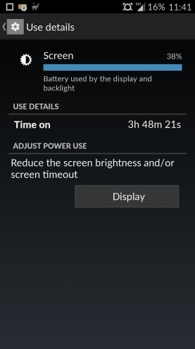 OnePlus One Screen On Time