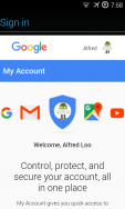 Stuck at adding Google accoutn